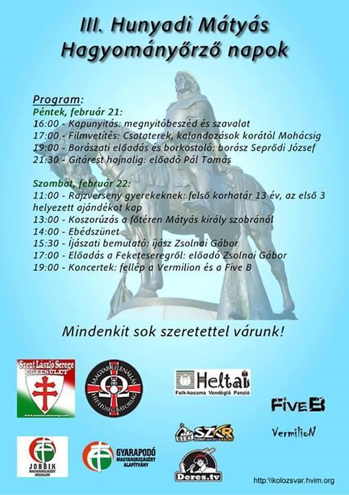 A Mátyás Király Hagyományőrző Napok plakátja