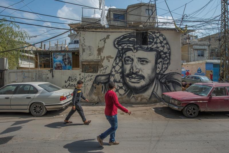Az Al Rashidija palesztin menekülttábor egy utcája. Fotó: ©EU/ECHO/PeterBiro